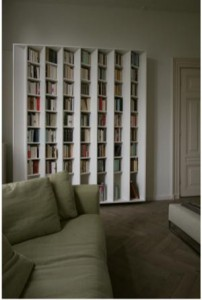 Two-sided bookshelf