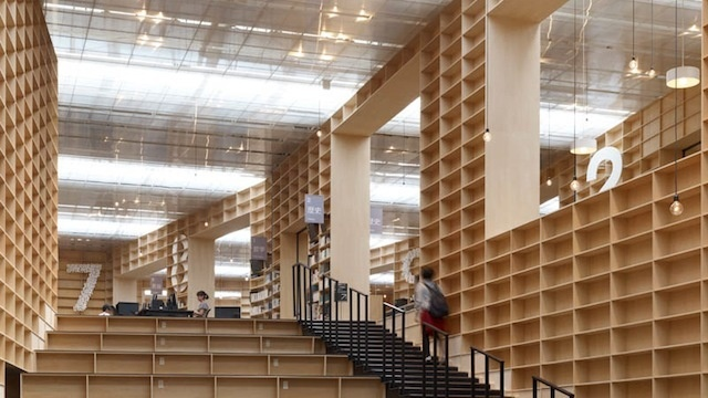 Library Made of Bookshelves