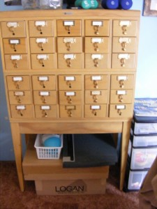 library card catalog for sale